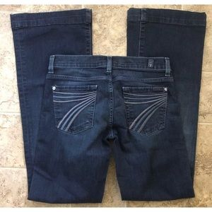 7 for all mankind Dojo flare dark blue jeans